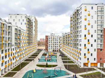 Вид на 1 и 2 корпуса ЖК Новокрасково
